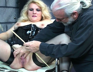 Master len canes and spanks a young brunette victim slave girl in dungeon 2